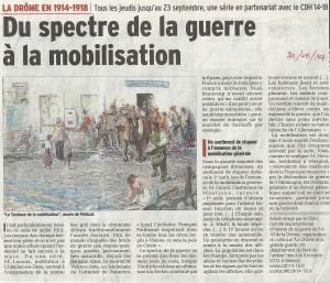 Article du Dauphiné libéré sur la mobilisation en Drôme