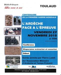 Soirée du 27 novembre 2015 à Toulaud