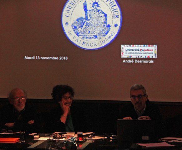 Présentation du travail de l'université populaire de l'agglomération valentinoise dans le cadre du CDH14-18